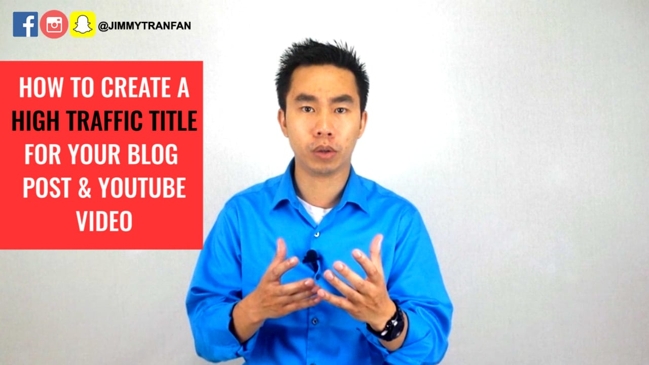How To Create a High Traffic Title for your Blog Post and Youtube Video